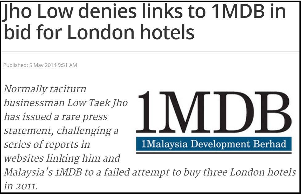 Jho Low denies links to 1MDB in bid for London hotels The Malaysian Insider