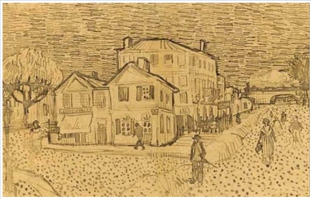 La maison de Vincent a Arles van gogh