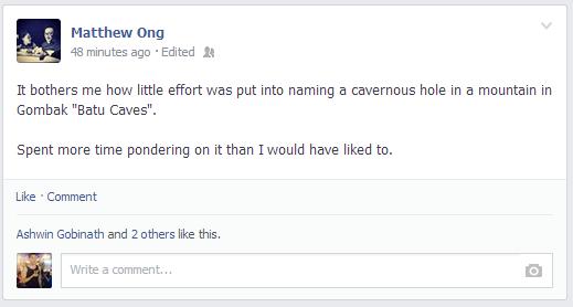 from Matthew Ong