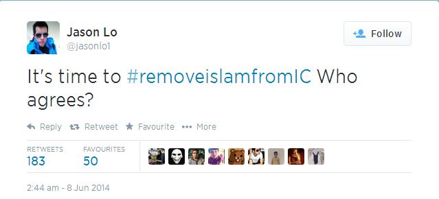 Twitter   jasonlo1  It s time to  removeislamfromIC ...