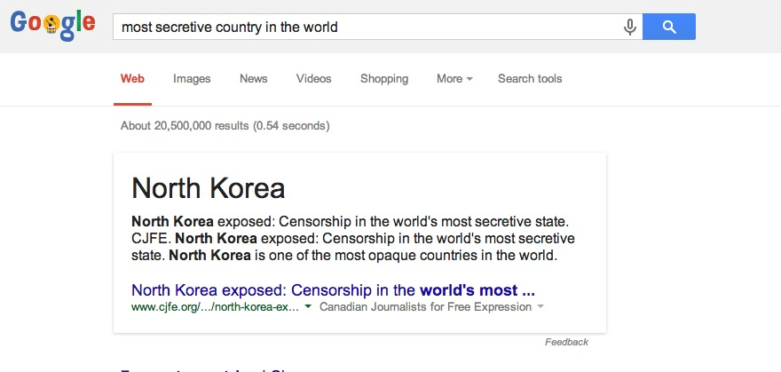 most secretive country in the world