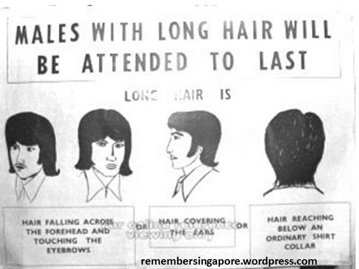 And also how long to keep your follicles. Long hair was associated with hippies, drugs, rock and roll and worst of all, women. This simply won't do.