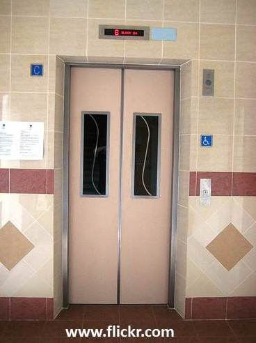 The smell of urine in this lift will outlast religion.