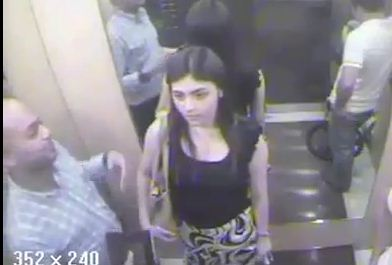 With the alleged victim | Screencap of CCTV footage hosted on YouTube