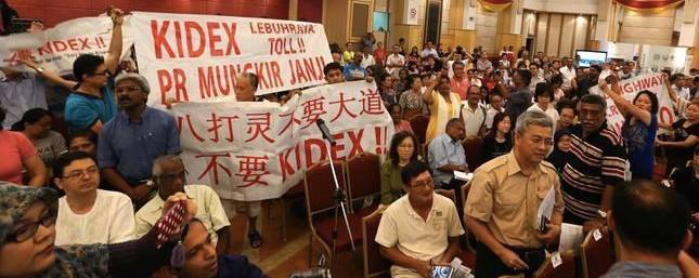 Anger surrounding the Kidex highway. Photo from 'Say No to Kidex' Facebook page