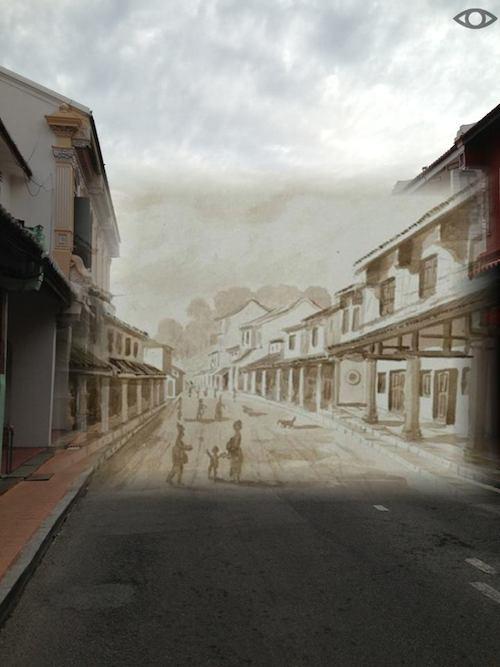 Present Day / c. 1840s, an illustration by John Turnbull Thomson, courtesy of Serge Jardin