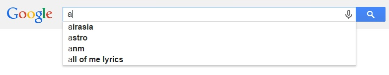 Google Malaysia Suggest - A