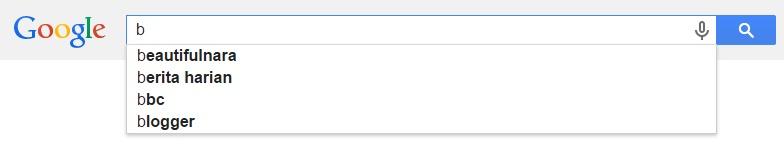 Google Malaysia Suggest - B