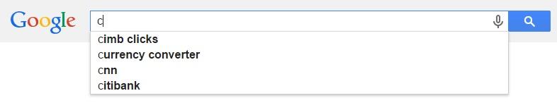 Google Malaysia Suggest - C