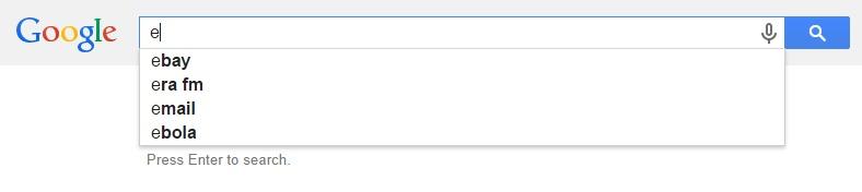 Google Malaysia Suggest - E