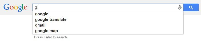 Google Malaysia Suggest - G