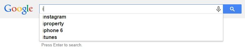 Google Malaysia Suggest - I