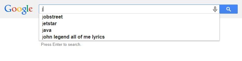 Google Malaysia Suggest - J