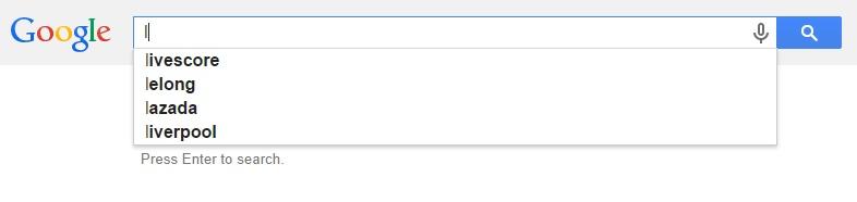 Google Malaysia Suggest - L