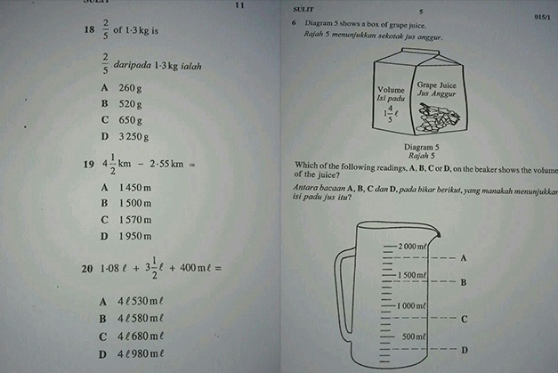 Maths paper leaked on WhatsApp. Image from astroawani.com
