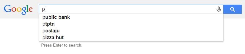 Google Malaysia Suggest - P
