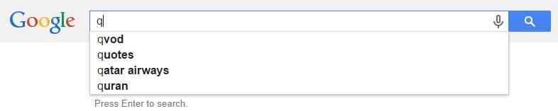 Google Malaysia Suggest - Q
