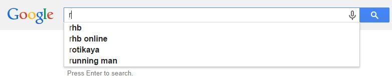 Google Malaysia Suggest - R