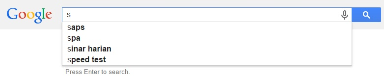 Google Malaysia Suggest - S