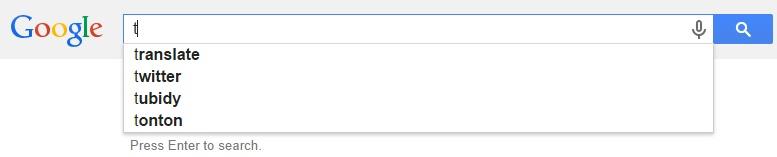Google Malaysia Suggest - T