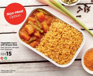 Vegetable Curry with Briyani Rice. Image from airasia.com