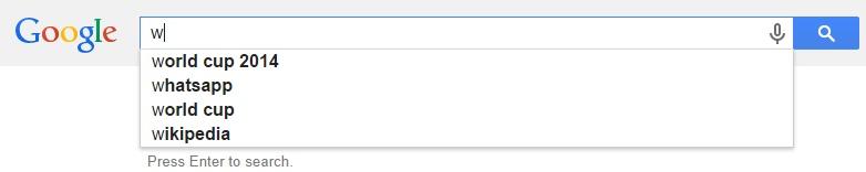 Google Malaysia Suggest - W