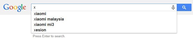 Google Malaysia Suggest - X
