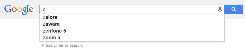 Google Malaysia Suggest - Z