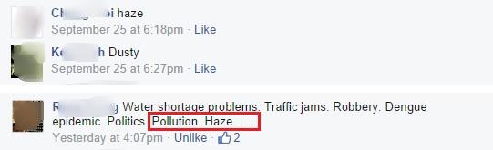 haze klang. Screen caps compiled from facebook.com