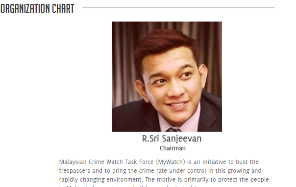 Most badass Organisational Chart EVER. - screencapped from MalaysianCrimeWatch.com