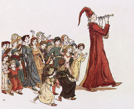 Hamelin refused to pay the Pied Piper and he took terrible revenge. Image from wikipedia.org