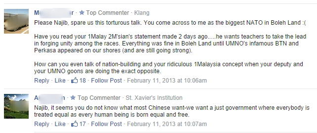 Najib ready to engage Chinese community   Free Malaysia Today comments
