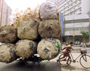 recyclables-cart-shanghai-china