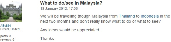 Comment from ABull84, the UK on TripAdvisor.