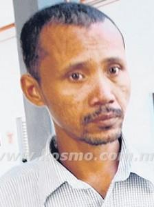 Mohd Hadi Hamzah who stole RM2. Image from Adham Shadan's article in Kosmo.