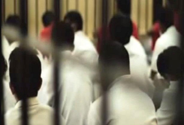 Prisoners. Screen cap from Prison Department of Malaysia.