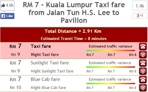 Screencap from Malaysia Taxi Auto Fare.