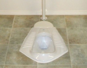 Squat toilet. Image from Wikipedia.