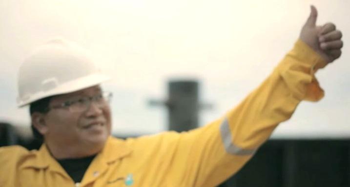 James Anak Bali, Beacon project, Petronas. Screen cap from YouTube.