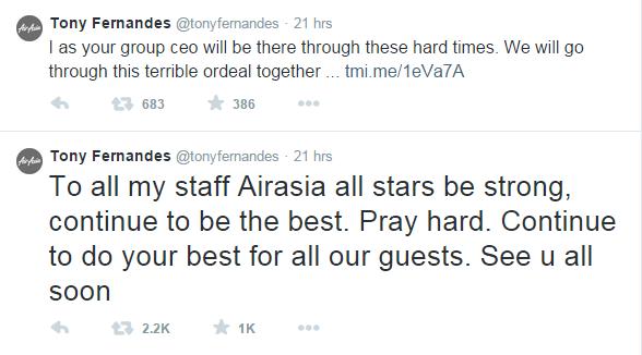 Tony Fernandes  staff responsibility