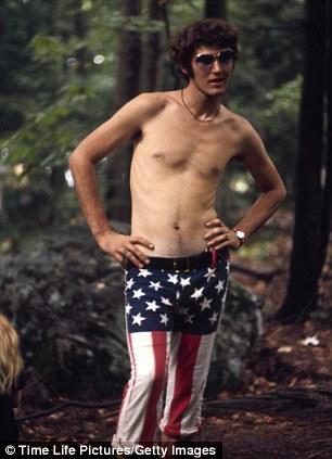 Topless hippie