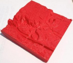 3D-printed rock formation model. Image from 3dprint.com