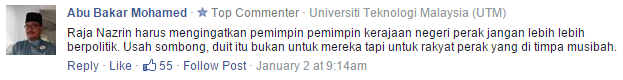 Comment taken from Free Malaysia Today.