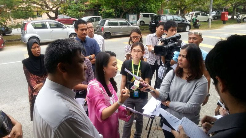 During the press conference regarding the bicycle lane in Subang