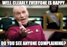 happy complain