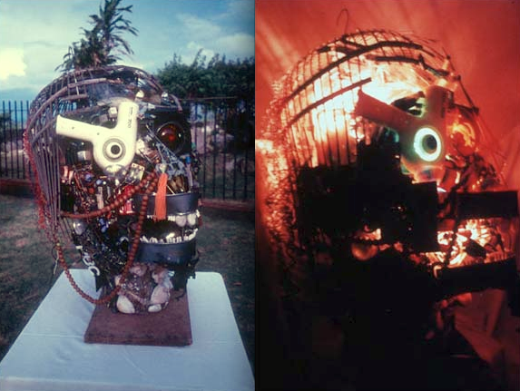 Leon Lim's The Recycled Head displayed in Georgetown, Penang. Image from Wikipedia.