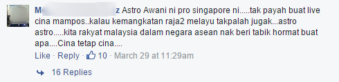 Astro awani's facebook post 5