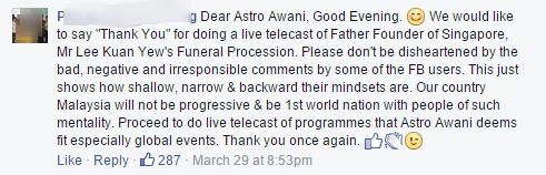 Astro awani's facebook post 6