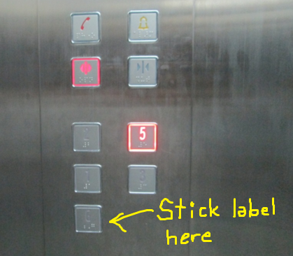 label elevator lift button autopay machine. Image from elevation.wikia.com.
