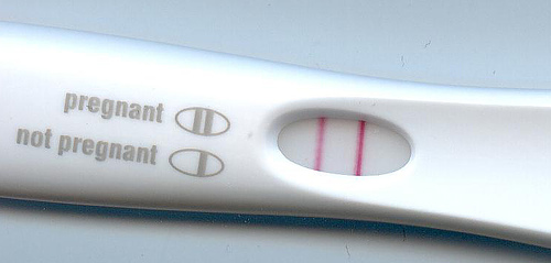 pregnancy test kit. Image from Klaus Hoffmeier on Wikipedia.